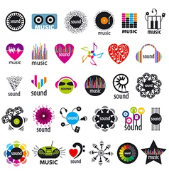 Biggest collection of logos music and sound vector