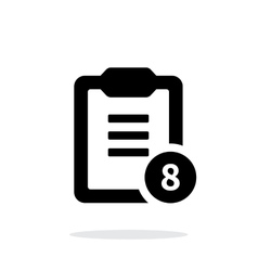 Clipboard with numbers simple icon on white vector