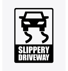 Slippery driveway vector
