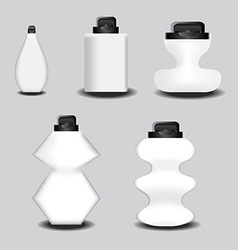 Clear bottle vector
