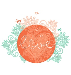 Floral design of valentines day vector