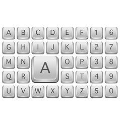 Keyboard alphabet vector