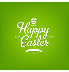 Happy easter green card vector