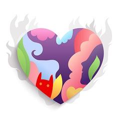 Spirit heart colorful vector