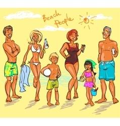 Beach people vector