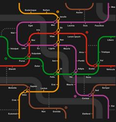 Fictional metro map seamless pattern vector