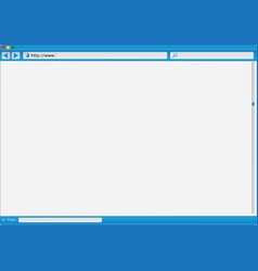 Modern internet web browser vector