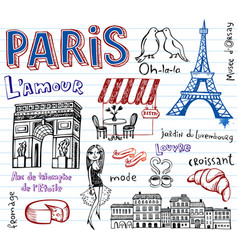 Paris doodles vector