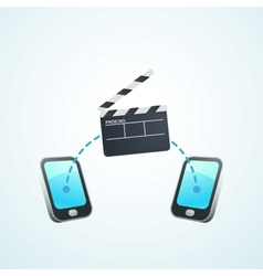 Shoot a movie on your phone vector