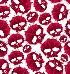 Red skulls seamless pattern geometric contemporary vector