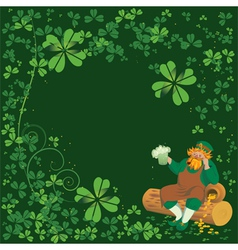 Background with leprechaun vector