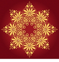 Lace gold ornament vector