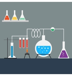 Flat design style of laboratory vector