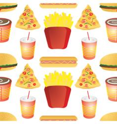 Fast food tile vector