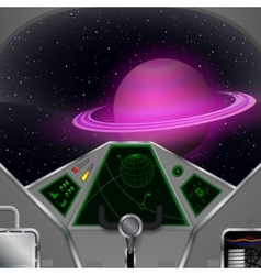 Spaceship cabin vector