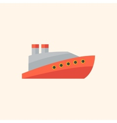 Boat flat icon vector