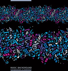 Music seamless abstract background with colorful vector