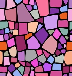 Mosaic pattern on black background vector