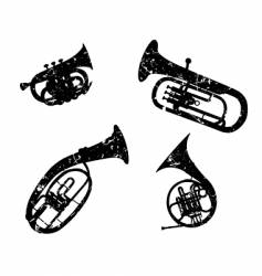 Wind musical instruments vector
