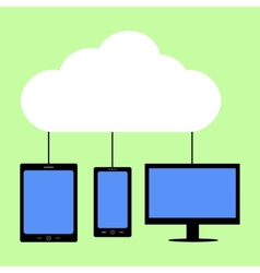 Flat style cloud computing vector