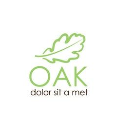 Oak leaf design template vector