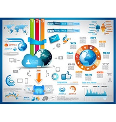Infographics elements for cloud computing graphs vector