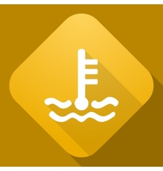 Icon of coolant level sign with a long shad vector