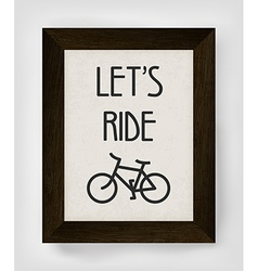 Vintage bicycle poster vector
