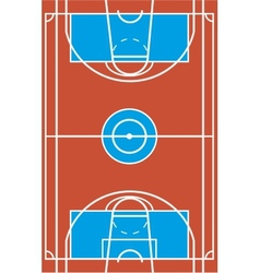 Sample multisport field in a simple outline vector