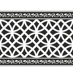 Gothic floral texture border vector
