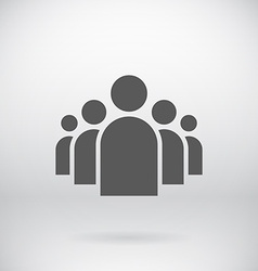 Flat group of people icon symbol background vector