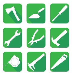Icons on the theme of building vector