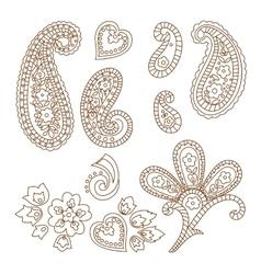 Paisley patterns vector