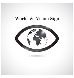 Global vision signeye icon vector
