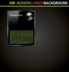 Modern carbon background vector