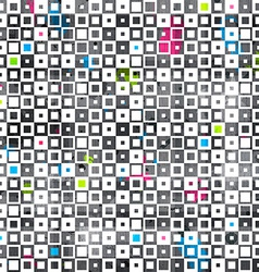 Abstract color squares grunge seamless pattern vector