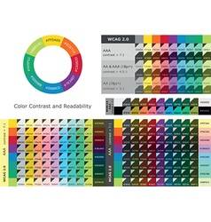Color contrast and readability vector