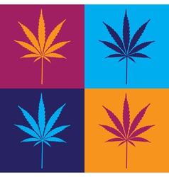 Cannabis leaf popart vector