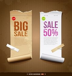 Vintage paper roll ripped vector