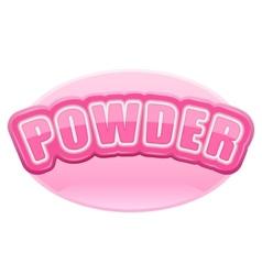 Label for powder bright premium design vector