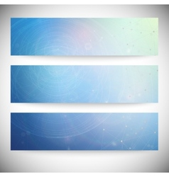 Set of horizontal banners conceptual design vector