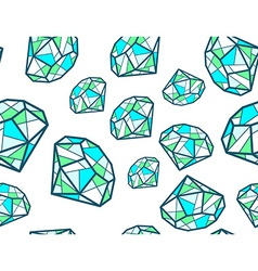 Pattern of green emeralds of different si vector