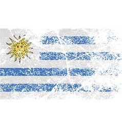 Flag of uruguay with old texture vector