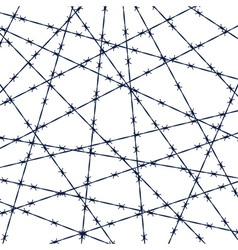 Barbed wire pattern vector