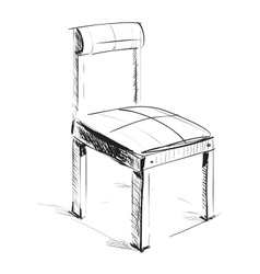 Sketch chair icon vector