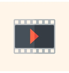 Video flat icon vector