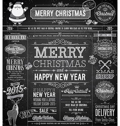 Chalk xmas labels vector