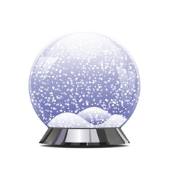 Empty snowglobe with glittering lights and vector