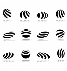Design elements with zebra pattern vector