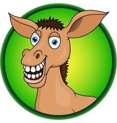Horse or donkey cartoon vector